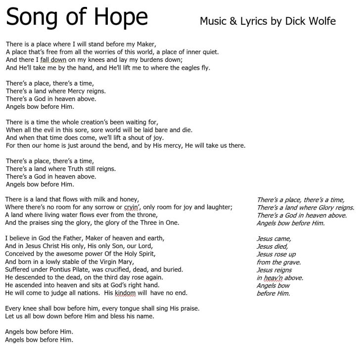 Song of Hope lyrics